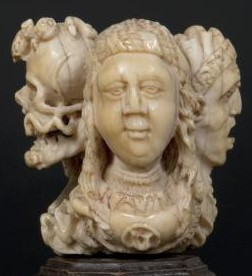 Musee Thomas Dobree Nantes 3 Jeune femme 'RAMT'; 'V' (in the brooch); 'STA MARIA Opro nobi' (below the head)