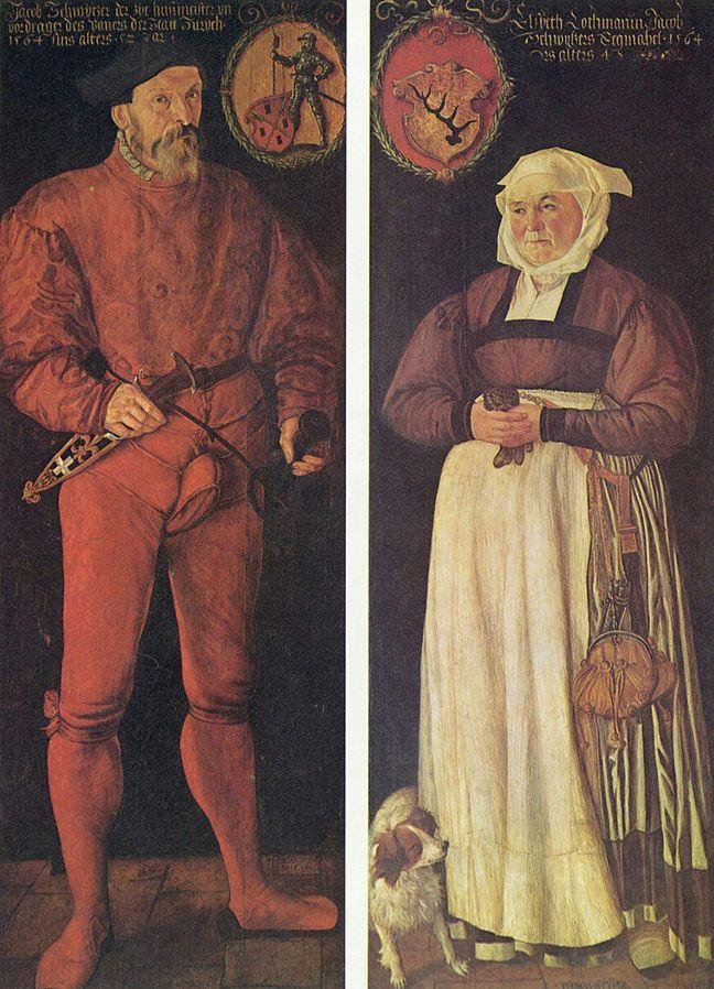 Portrait de Jacob Schwytzer et son épouse Elsbeth lochmann 1564 Tobias Stimmer , Bale Kunstmuseum
