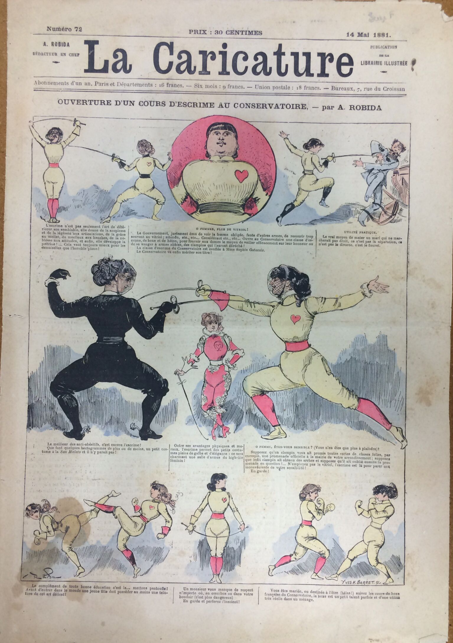 Robida La caricature 14 mai 1881
