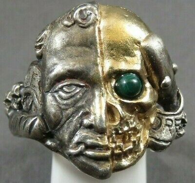 Unique-Antique-Georgian-Memento-Mori-Gold-Silver-Ring