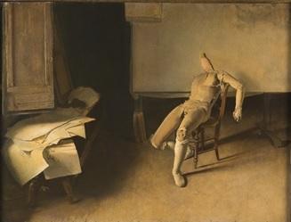 annigoni 1946 manichino-nello-studio coll privee