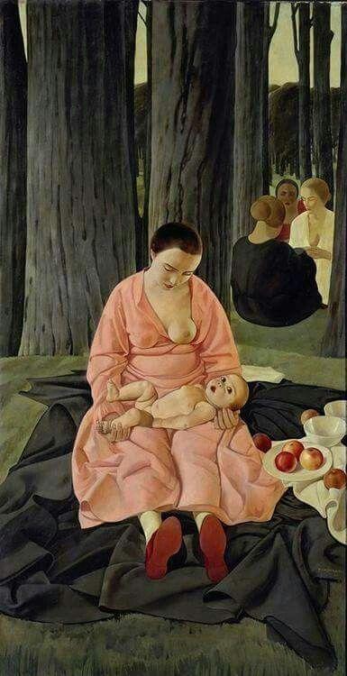casorati felice 1924 Madre o Maternita Gemaldegalerie Berlin