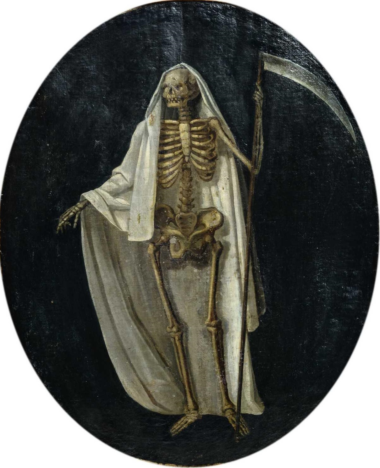 double-sided painting depicting the Grim Reaper