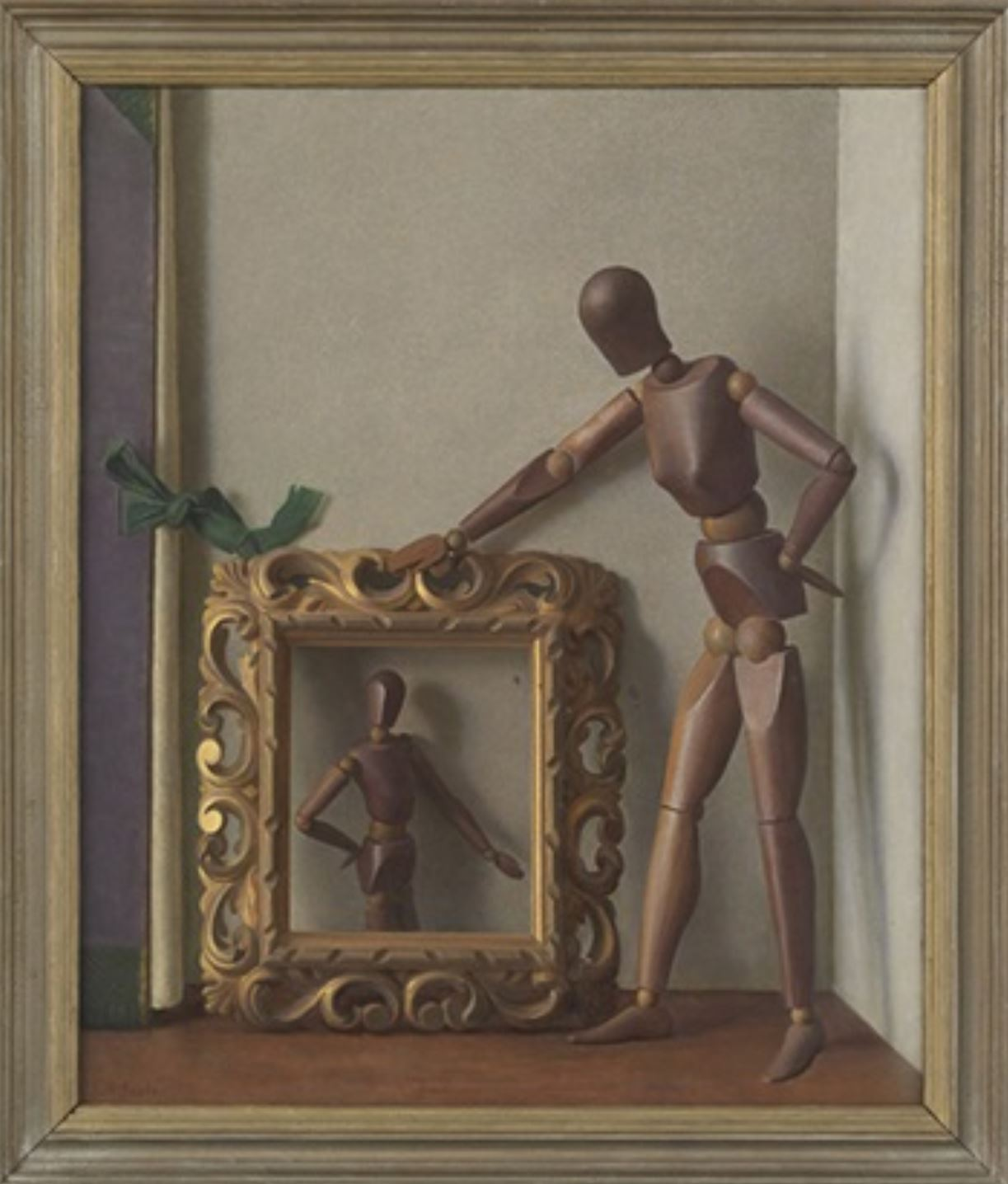 john-bulloch-souter (1890 - 1972), wood-lay-figure-with-a-mirror