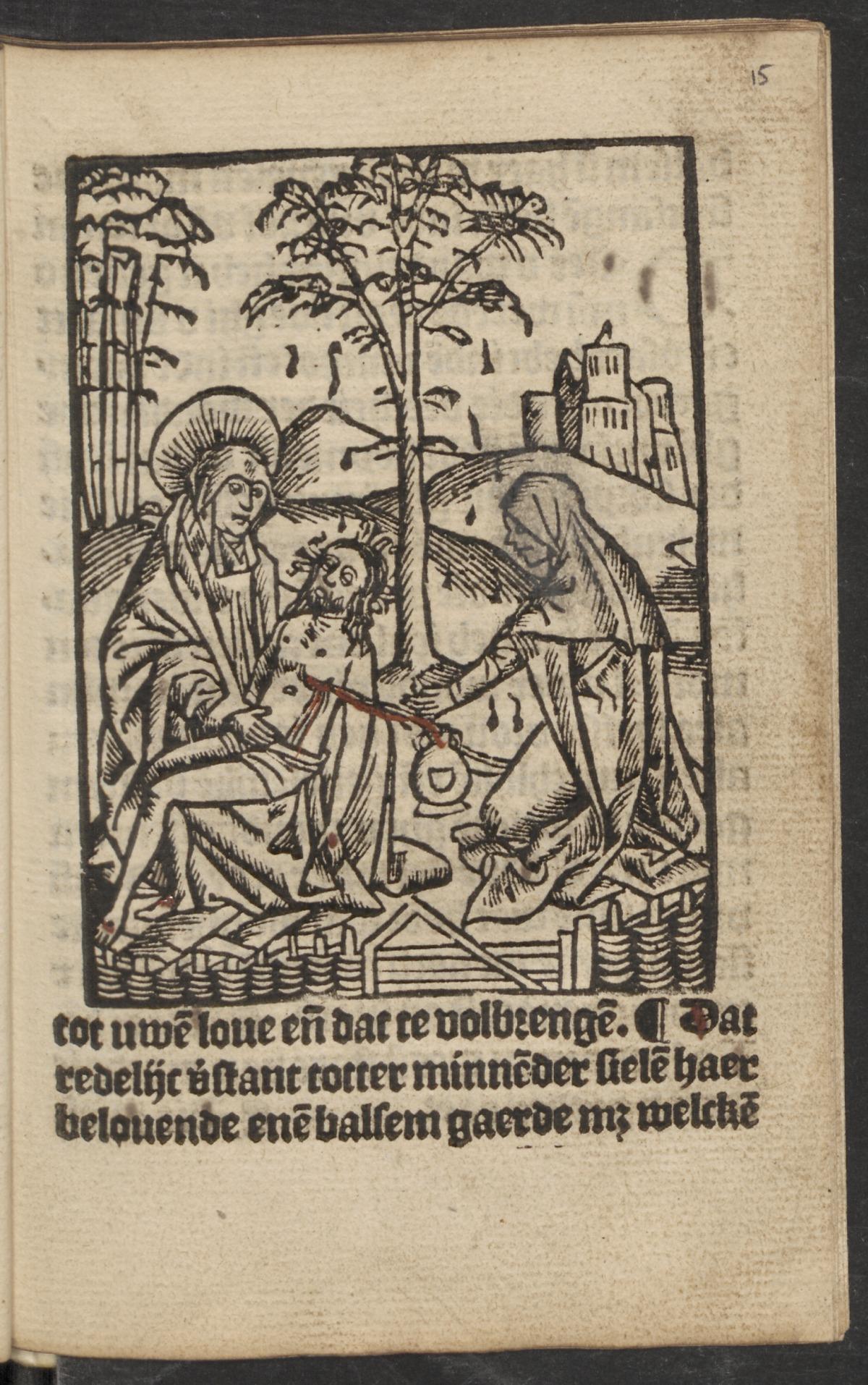 le Christ et l'ame dans le jardin de Gethsemani 1521. Utrecht Univeristy page 33