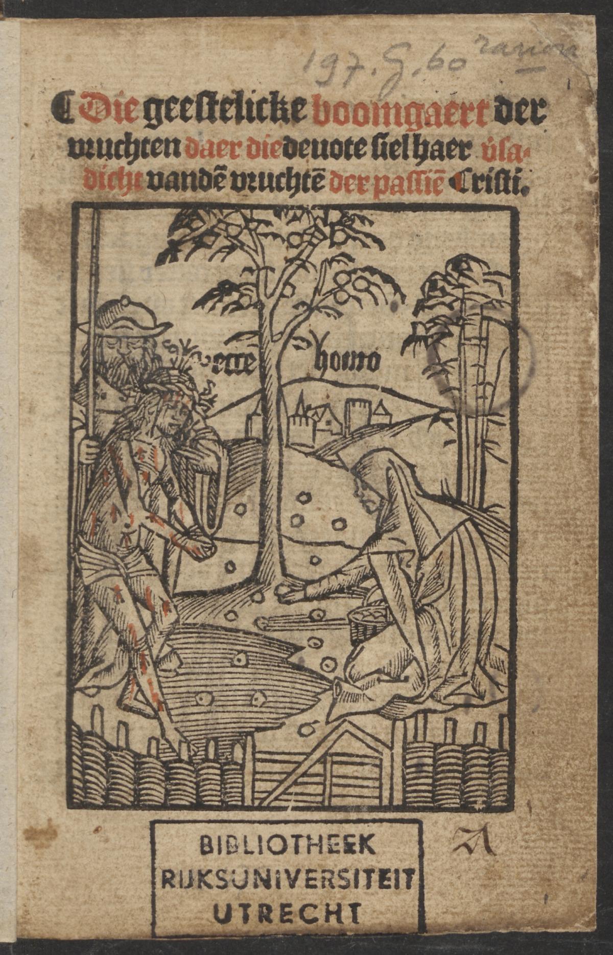 le Christ et l'ame dans le jardin de Gethsemani 1521. Utrecht University page1