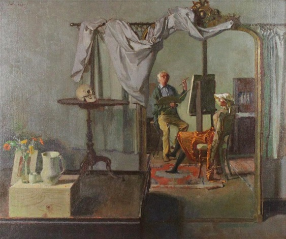 ward john-stanton 1995 self-portrait-with-lay-figure