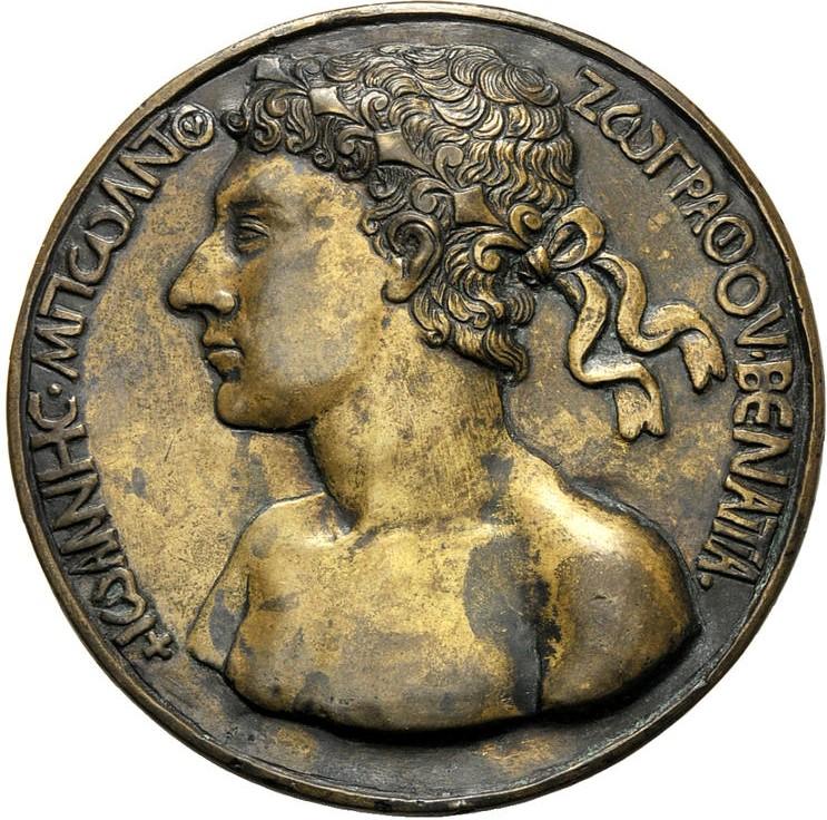 1458 Medaille autoportrait Giovanni Boldu A