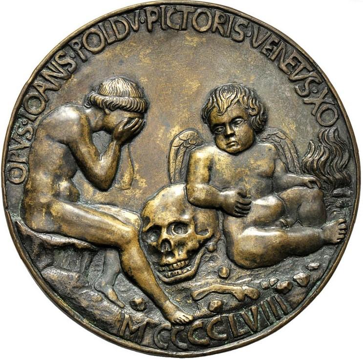 1458 Medaille autoportrait Giovanni Boldu B