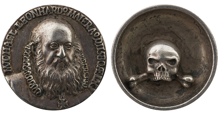 1580 medal of Michael Leonhard Maier by Baldwin Drentwett