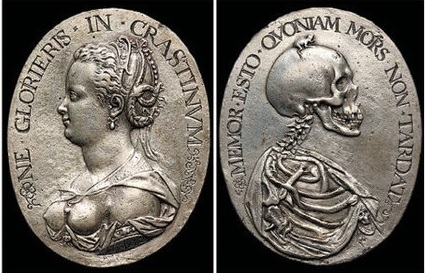 1612 Medaille auf die Vergänglichkeit Vorder- und Ruckseite Jan de Vos