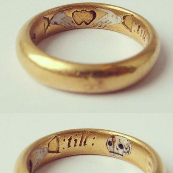 1650 ca Two hands, one heart, till death us part