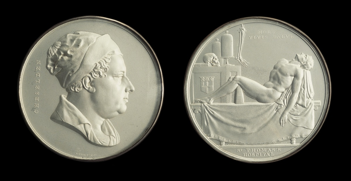 1829 medal of St. Thomas's Hospital, by William Wyon (The Cheselden Medal)