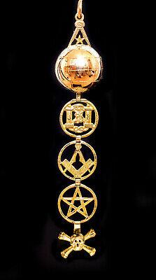 1900 ca Antique-Masonic-Skull-Bones-Ladder-9Ct-Gold-Ball ouvert