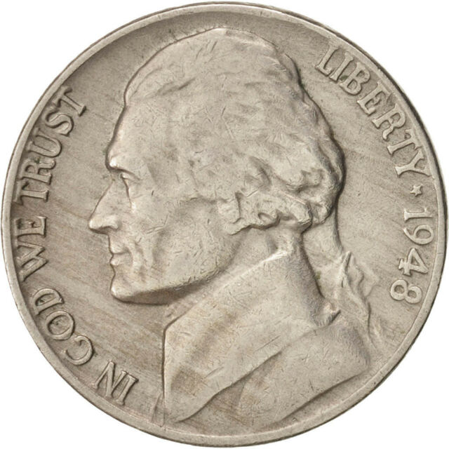 1948 Jefferson nickel 5 Cents 1948