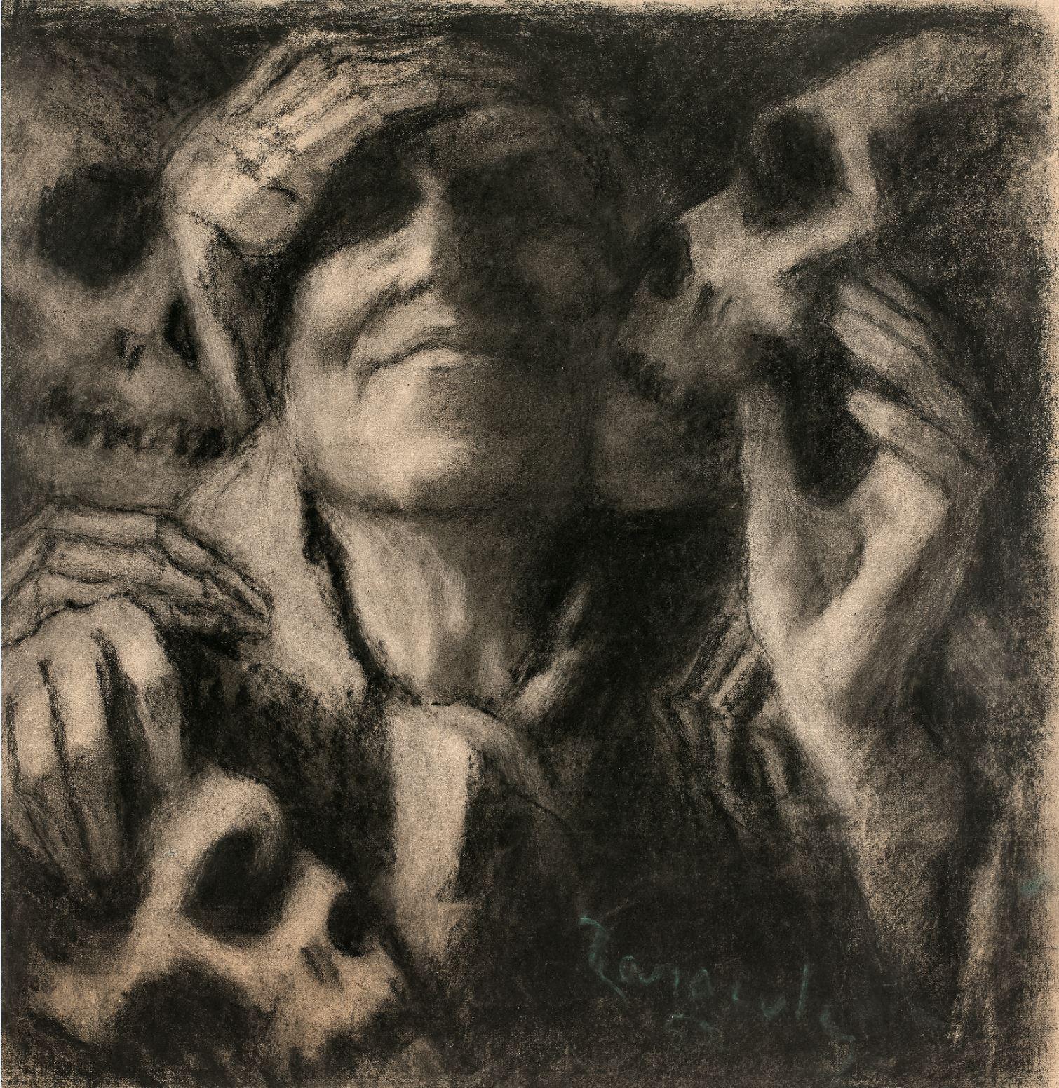 Alban Taracole 1952 Autoportrait Galerie Ambroise Duchemin