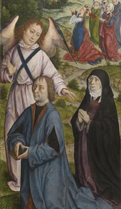 Albrecht Bouts et son epouse Elisabeth de Nausnydere, Triptyque de l'Assomption de la Vierge