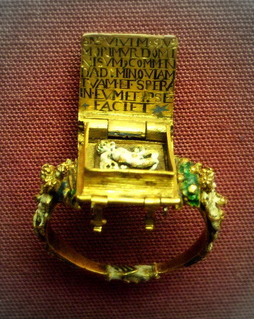Anneau Memento Mori Flandres 1525-1575 British Museum B