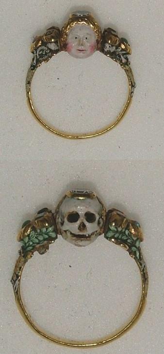 Anneau Memento Mori fin XVIIeme Ashmolean Museum
