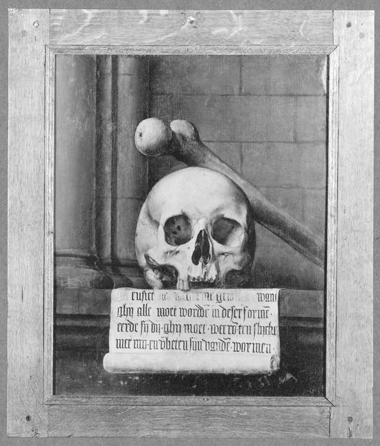 Anoniem, Anoniem, Portret van Adriaen van den Broucke, revers Stedelijk Museum Het Prinsenhof Delft