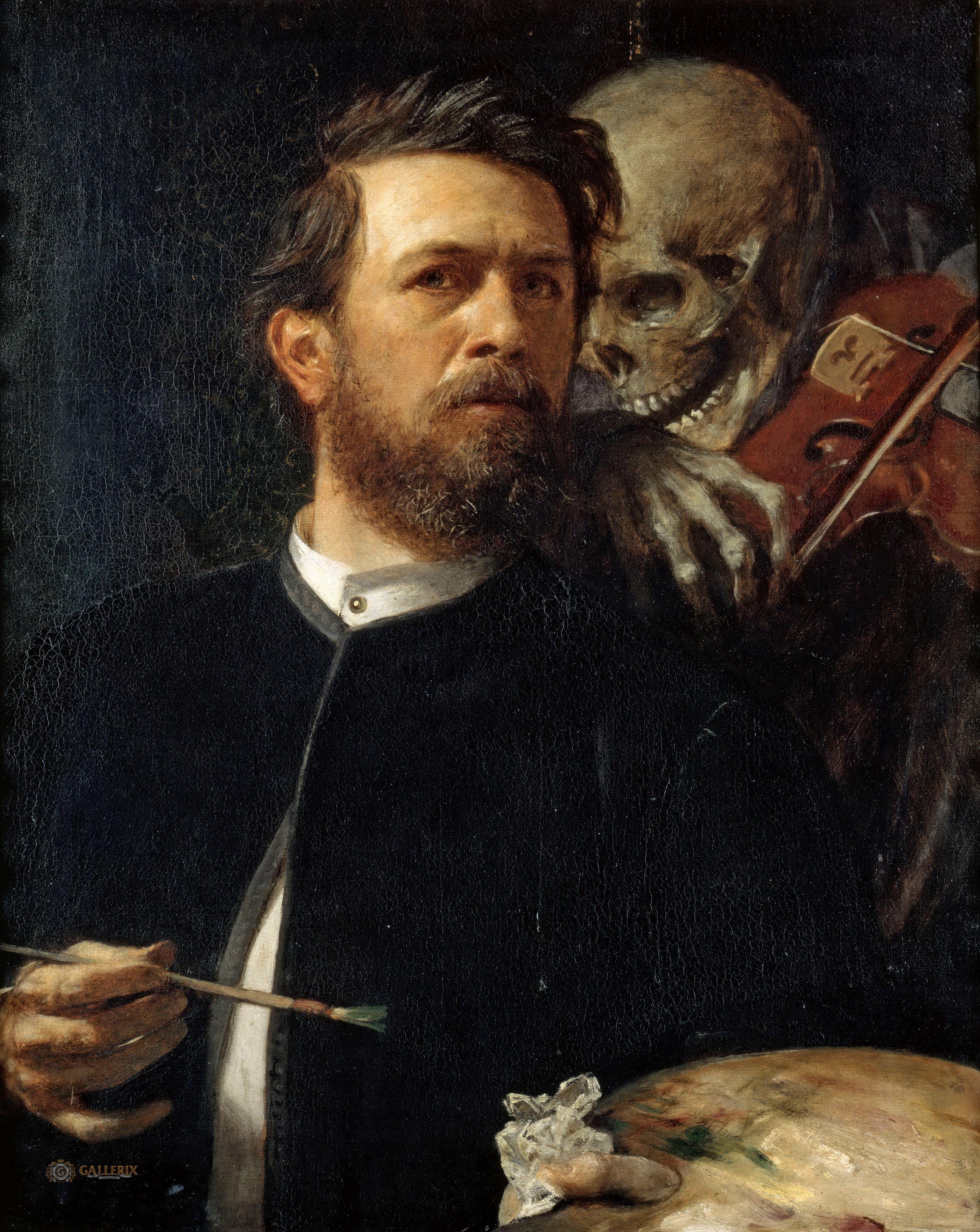 Bocklin autoportrait avec la Mort 1872 Alte Nationalgalerie Berlin