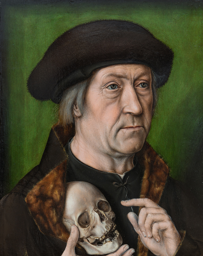 Bouts 1519-1524 Autoportrait au crane Brukenthal National Museum, Sibiu