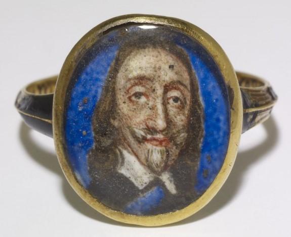 Charles I Memento Mori 1650 ca bague royaliste Bristish Museum A