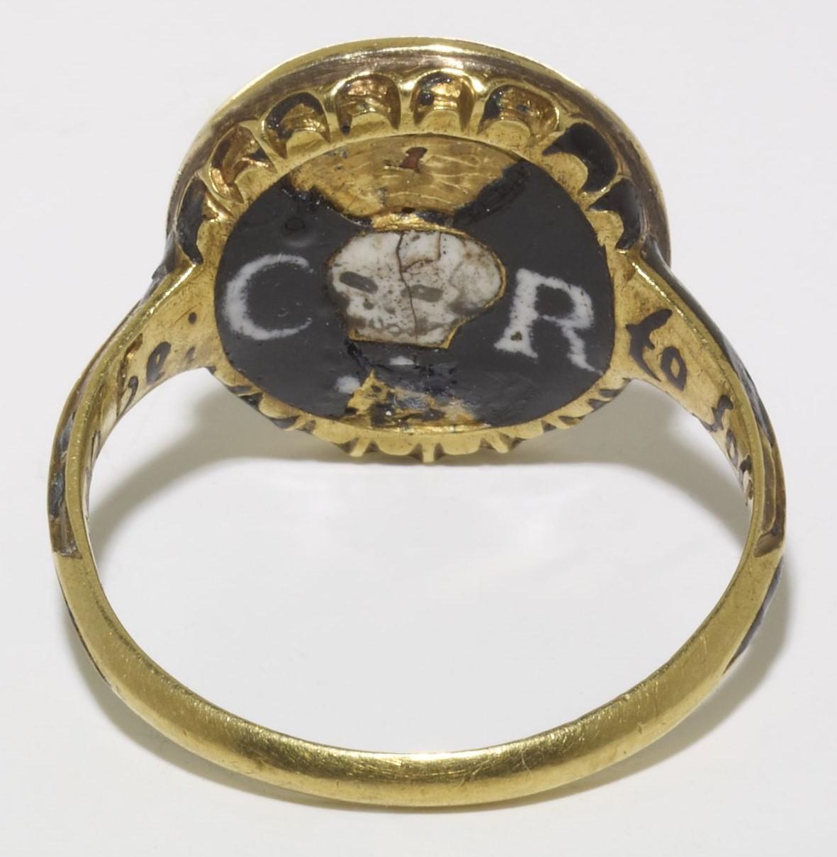 Charles I Memento Mori 1650 ca bague royaliste Bristish Museum B