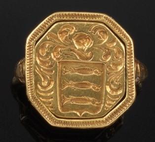 Charles I gold seal ring B