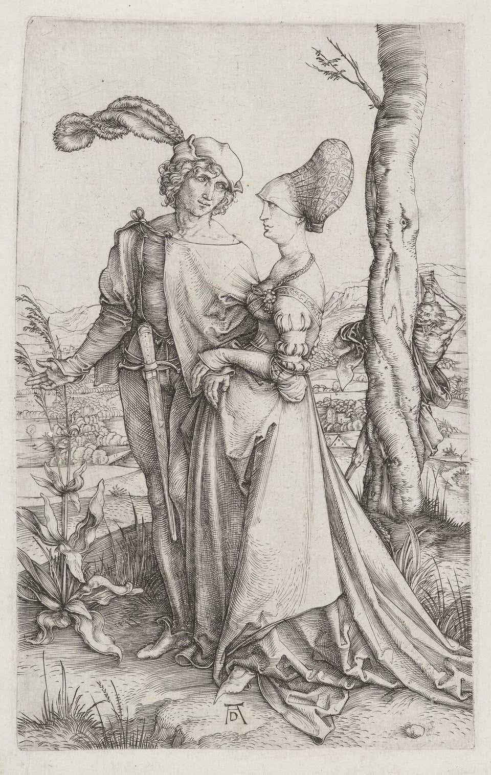 Durer 1498 Das Liebespaar und der Tod (Der Spaziergang).