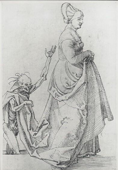 Durer Frau mit Tod 1502 ca Weimar, Schloss-Museum