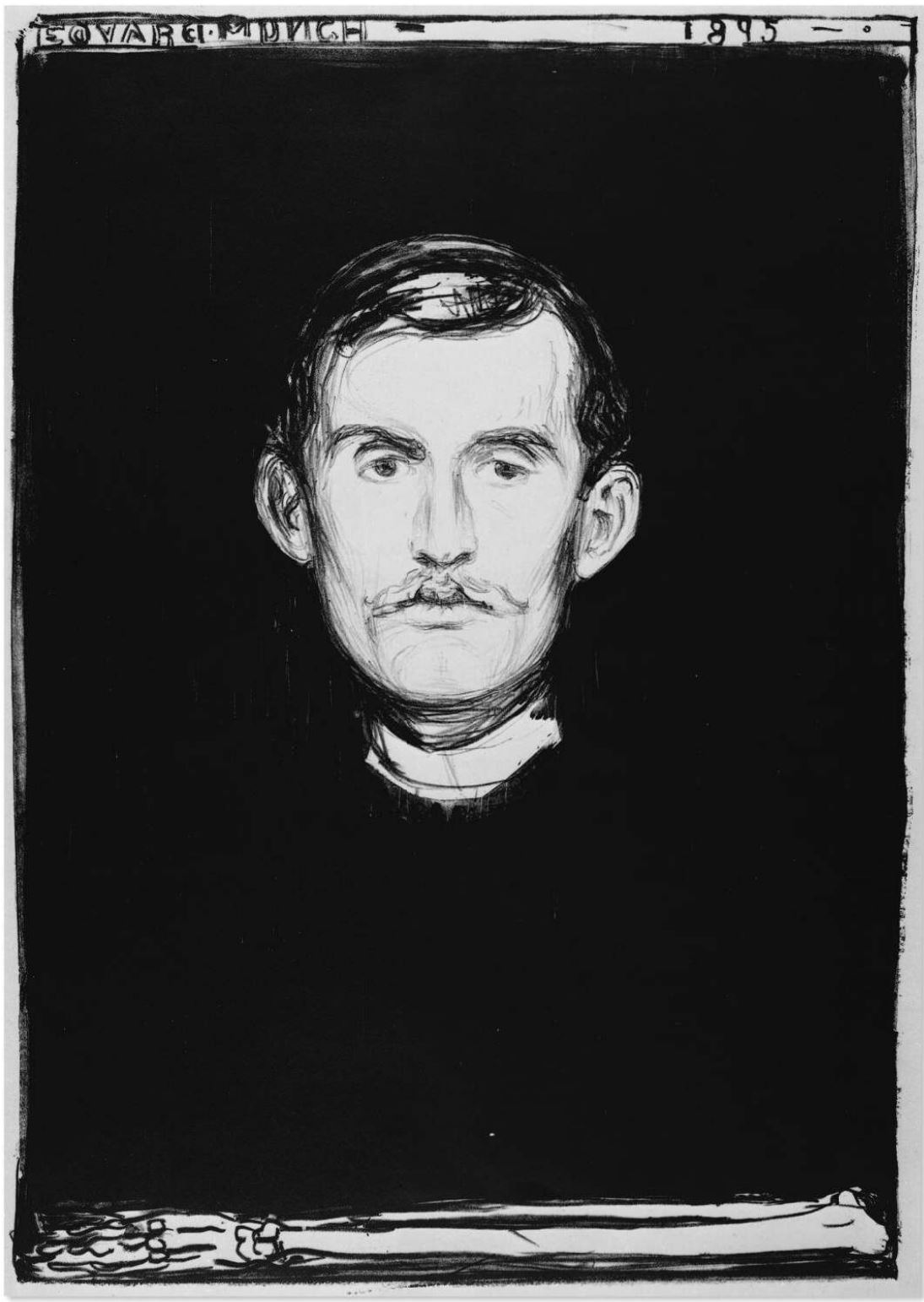 Edvard Munch Autoportrait 1895 Lithographie
