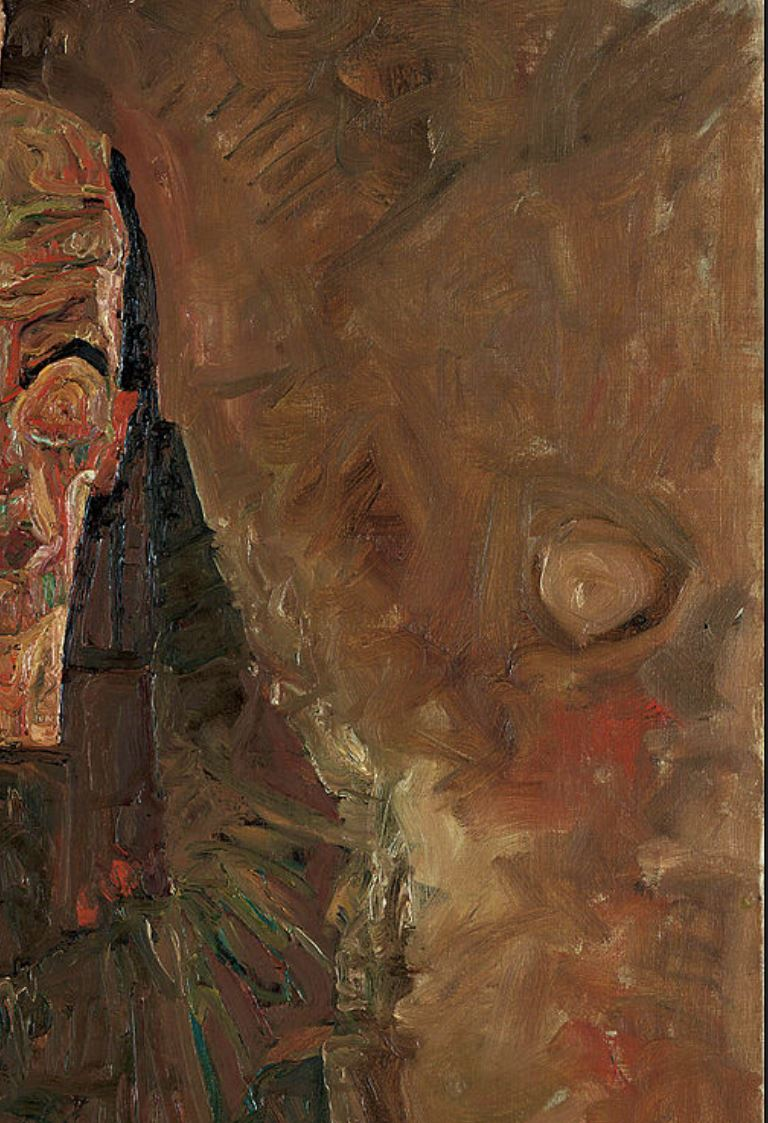 Egon Schiele 1911 Die Selbstseher II_(Death_and_Man) Leopold Museum Vienne detail