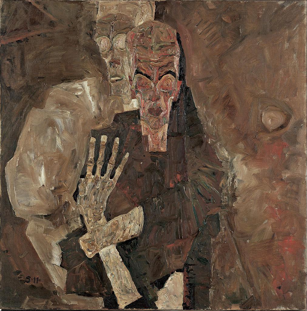 Egon Schiele 1911 Die Selbstseher II_(Death_and_Man) Leopold Museum Vienne