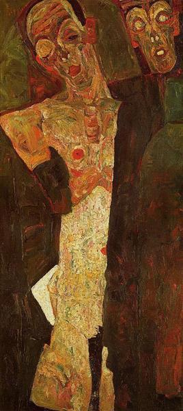 Egon Schiele 1911 prophets-double-self-portrait