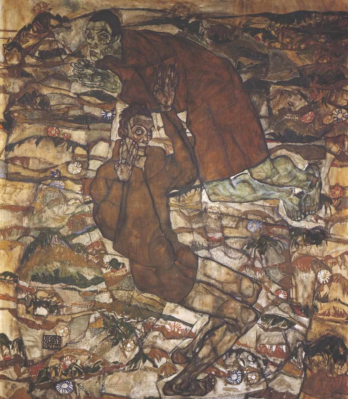 Egon Schiele Entschwebung (Die Blinden II, Heilige) 1915 Leopold Museum Vienne