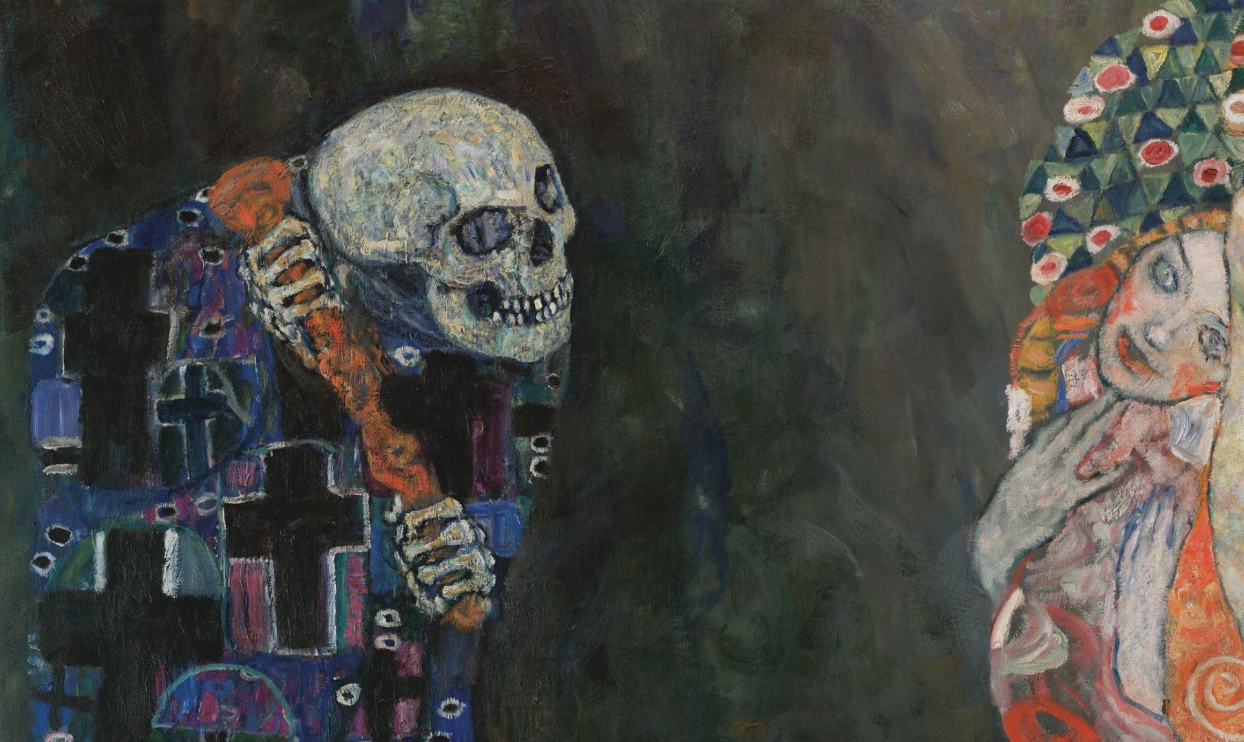 Gustav Klimt 1915 TodLeben Musee Leopold Vienne detail