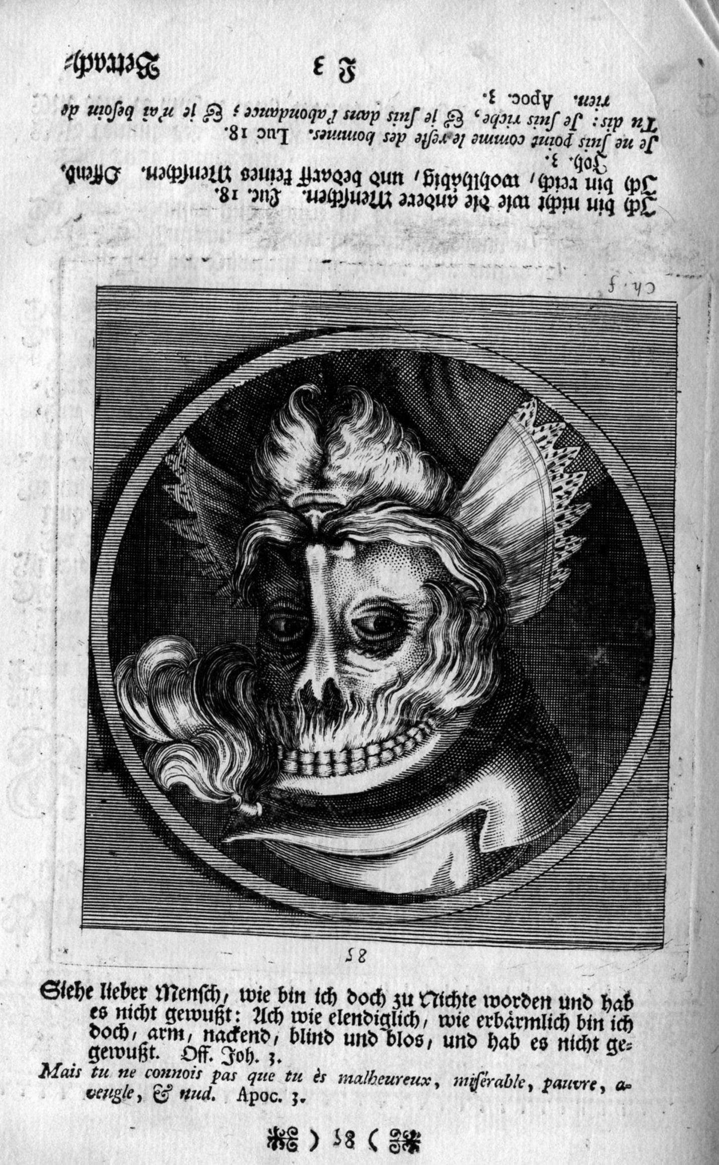 HB 1744 CHOVIN pl.85 de La Danse des morts, comme elle est depeinte dans la louable et celebre ville de Basle B