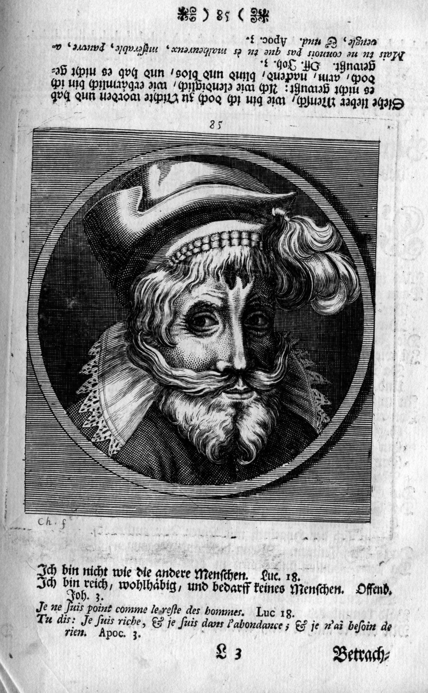 HB 1744 CHOVIN pl.85 de La Danse des morts, comme elle est depeinte dans la louable et celebre ville de Basle d'apres Mathieu MERIAN A