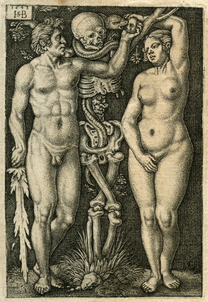Hans Sebald Beham Adam and Eve 1543