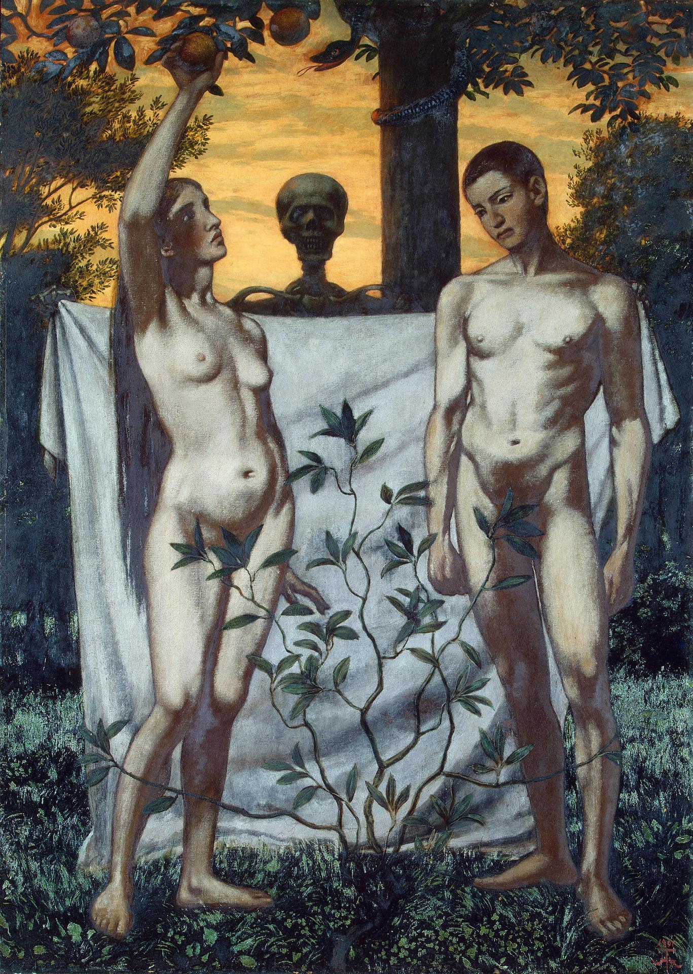 Hans_Thoma 1897 Adam et Eve Musee ermitage