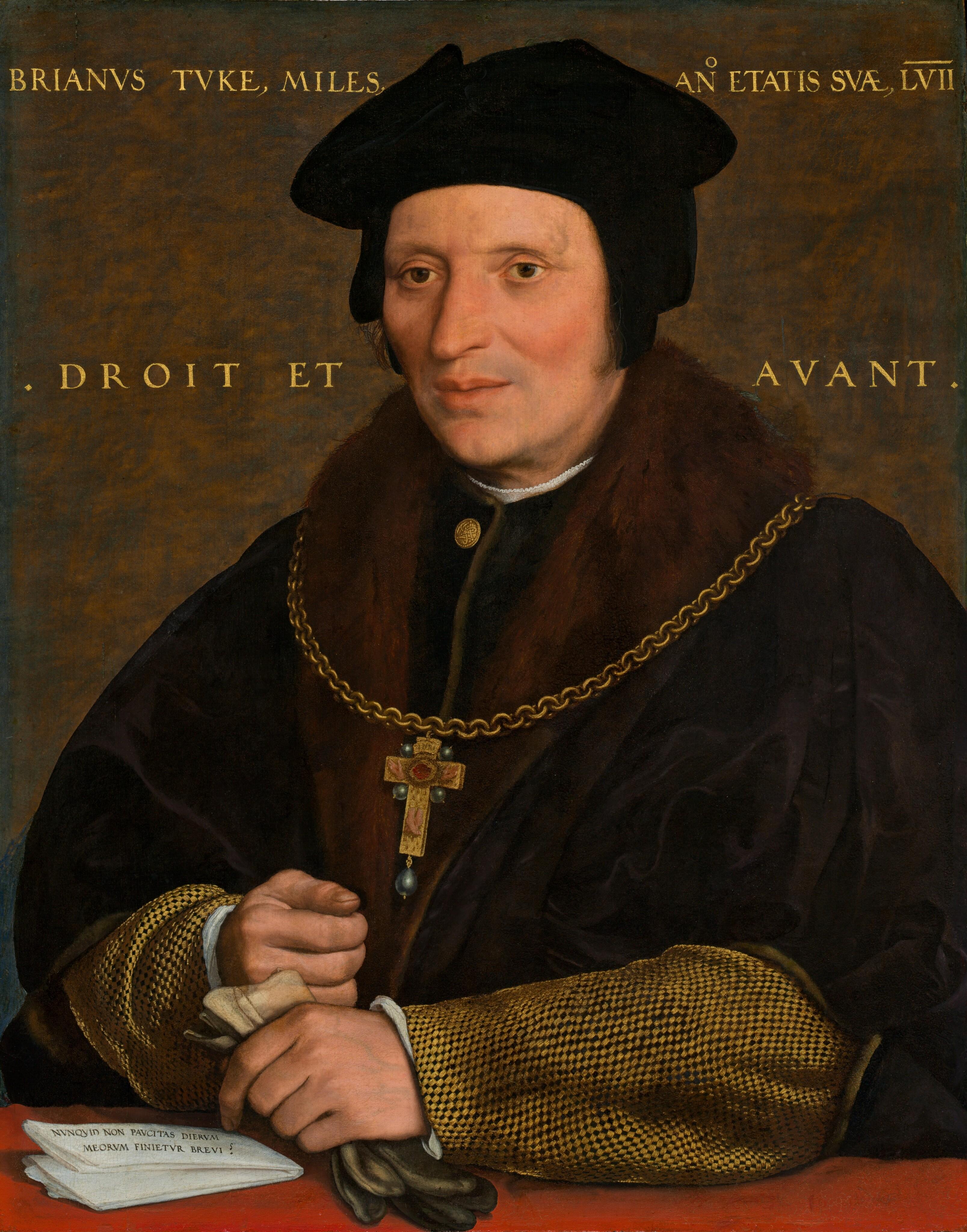Holbein Hans, le Jeune 1527-28 ou 1532-34 Portrait de Sir Brian Tuke NGA