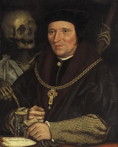 Holbein Hans, le Jeune 1540 copie Portrait de Sir Brian Tuke Munich, Alte Pinakothek
