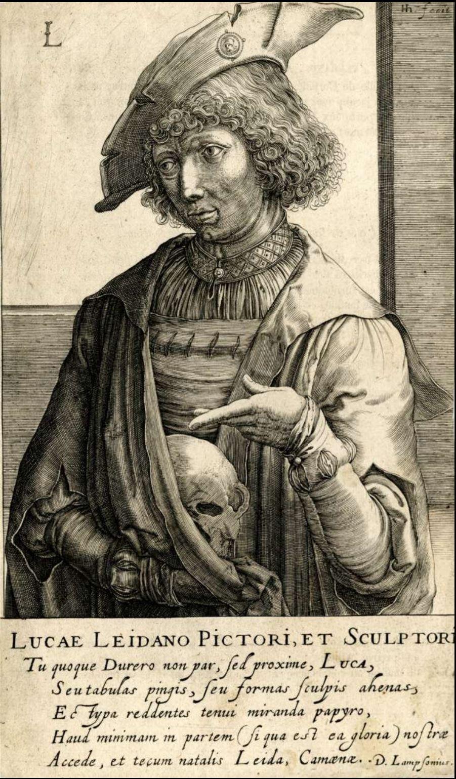 Hondius Portrait de Lucas de Leyde vers 1610