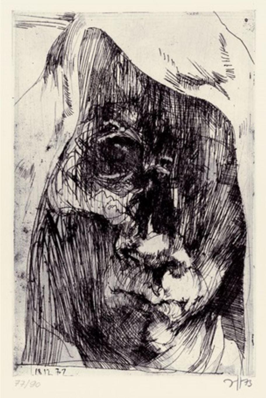 Horst janssen 18.12.72 serie Hanno's Tod