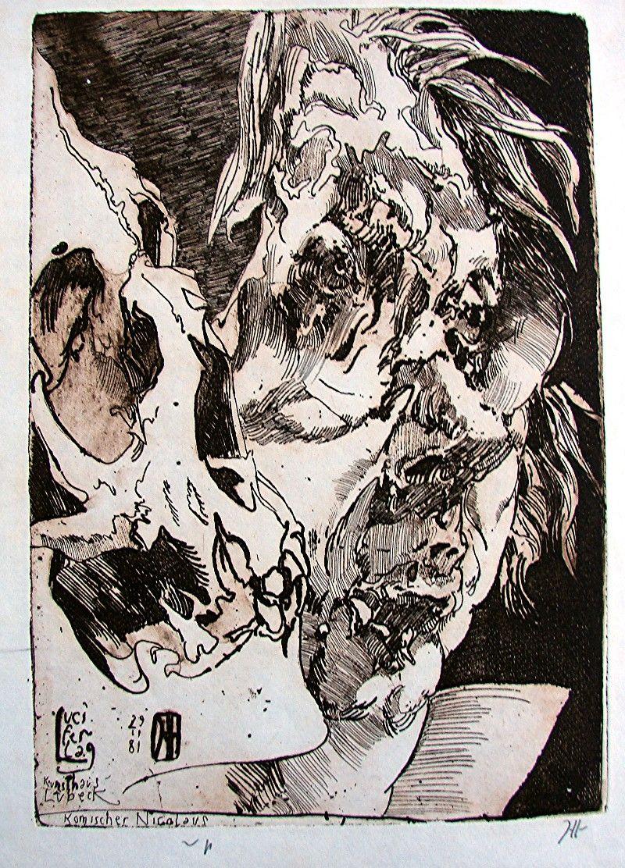 Hosrt Janssen Self Portrait (Komischer Nikolaus) , 29 11 1981