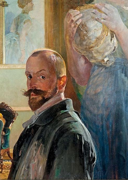 Jacek Malczewski 1902 selfportrait with skull coll priv
