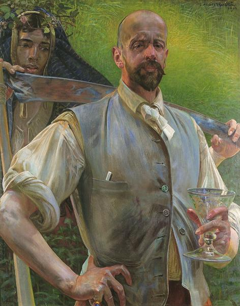 Jacek Malczewski 1910 Self-portrait with death