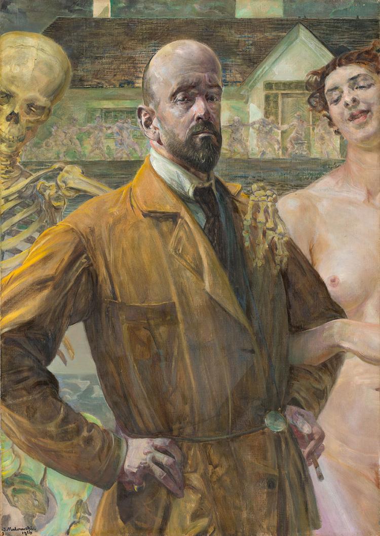Jacek Malczewski 1916 Self-portrait - life and death,coll priv