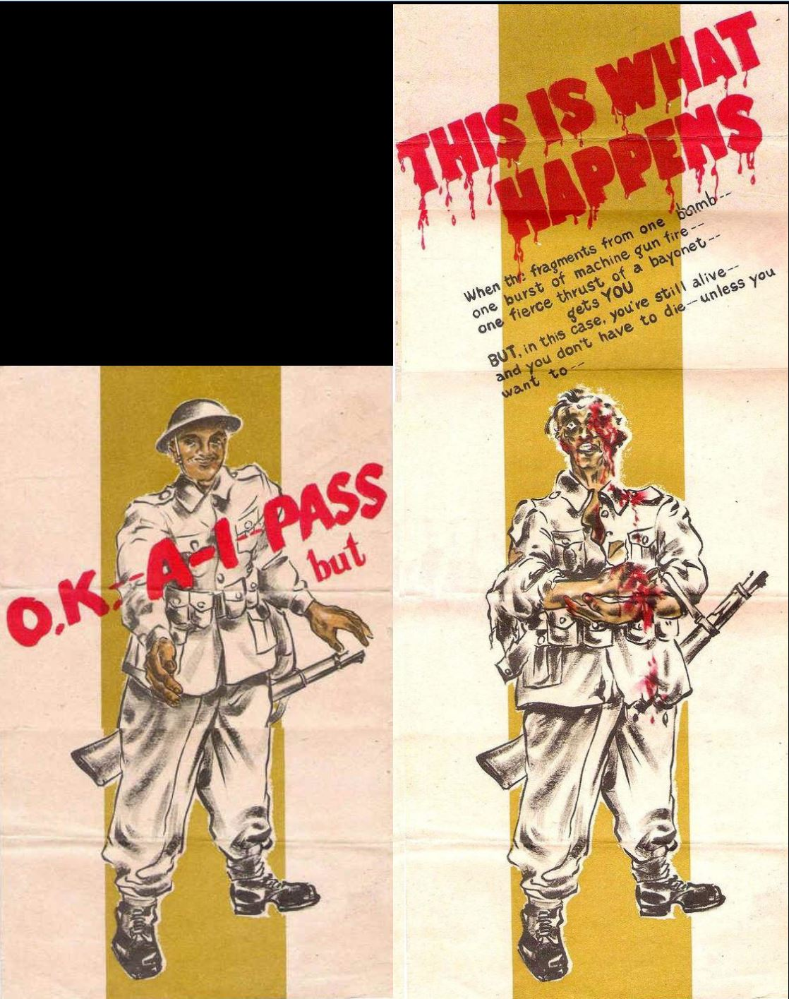 Japon tract de propagande OKA1Pass